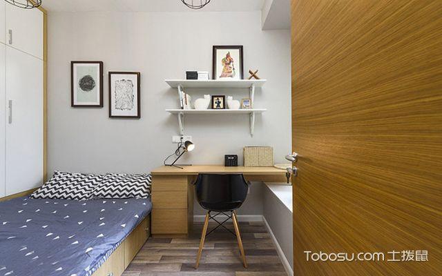 70平米两室一厅装修图次卧