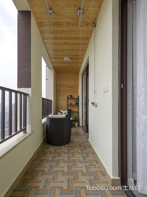 70平米两室一厅装修图阳台