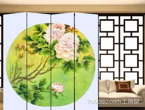 客厅十字绣屏风设计图片_土拨鼠装修经验