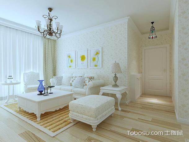 田园风格客厅搭配白色沙发图_土拨鼠装修经验