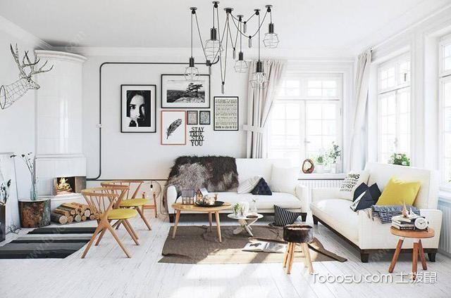 欧式风格客厅白色_土拨鼠装修经验
