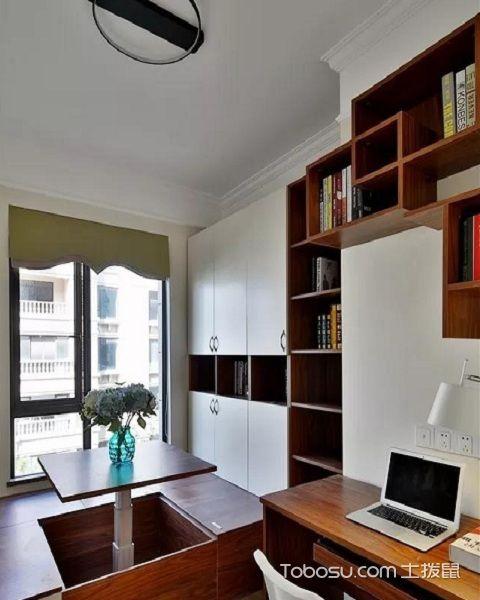普通三室一厅装修图书房