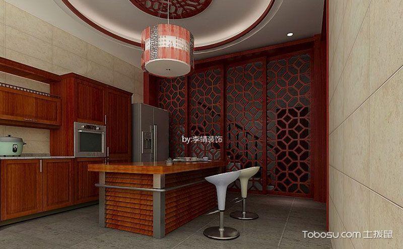 中式厨房吊顶设计,小空间也能有大气之感