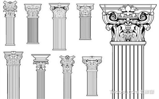 罗马柱效果图