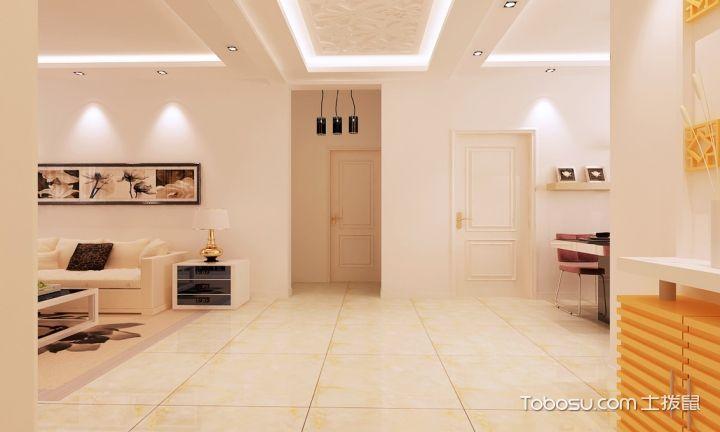 暖色客厅装修样板间_土拨鼠装修经验