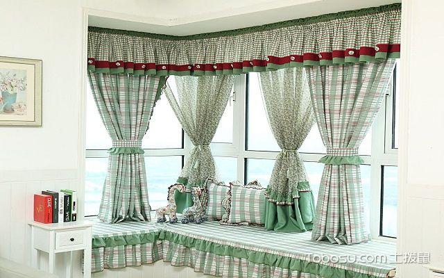 飘窗窗帘效果图窗帘选择
