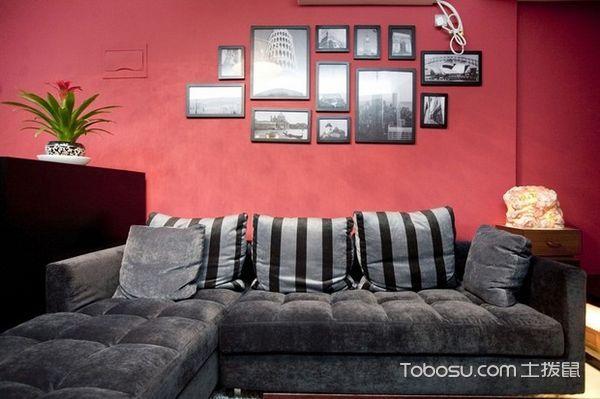 30平米客厅黑白沙发_土拨鼠装修经验