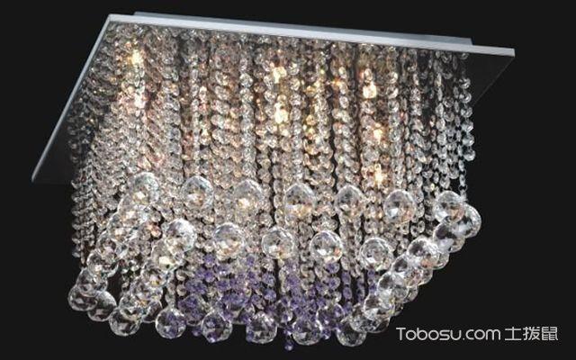 吊灯怎么擦—水晶串珠灯罩
