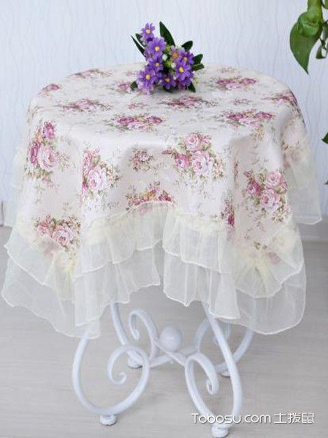 客厅茶几布装饰图片