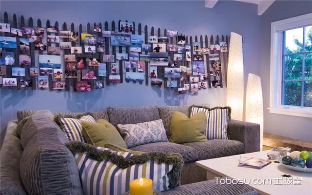 照片墙的设计和摆放案例