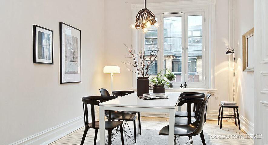 13平米客厅白色台灯_土拨鼠装修经验