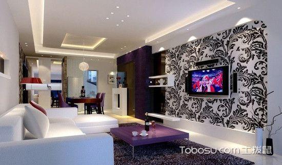 家装客厅电视背景墙_土拨鼠装修经验