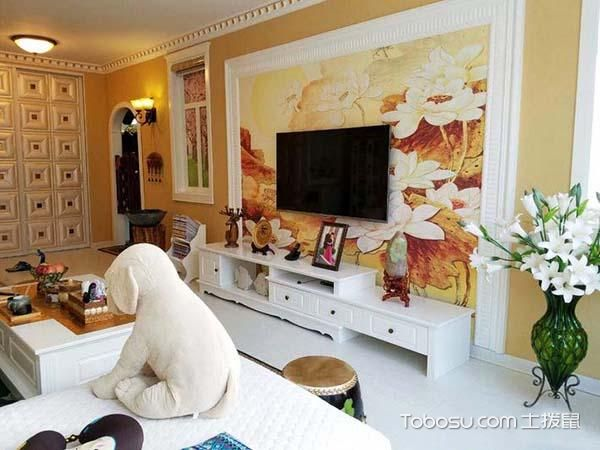 客厅墙面姜黄_土拨鼠装修经验