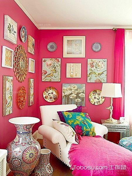 客厅墙面桃红_土拨鼠装修经验