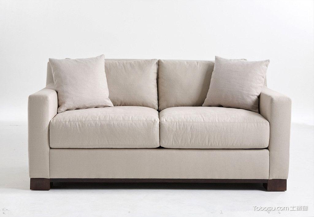 折叠功能情侣双人沙发奶茶色_土拨鼠装修经验