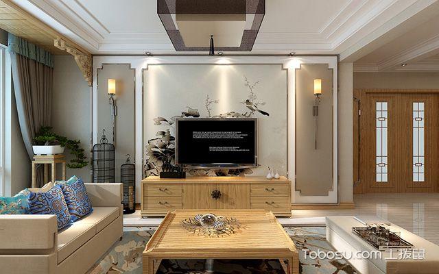 106平米中式装修风格 客厅