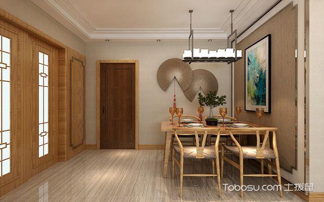 106平米中式装修风格 餐厅