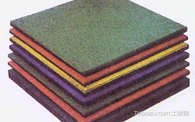 橡胶地砖怎么安装找平