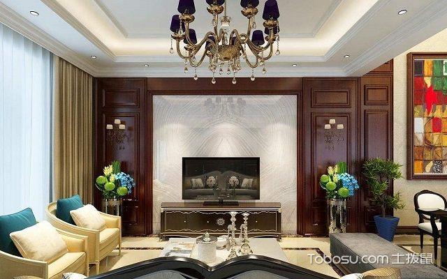 家用石膏电视墙造型效果图