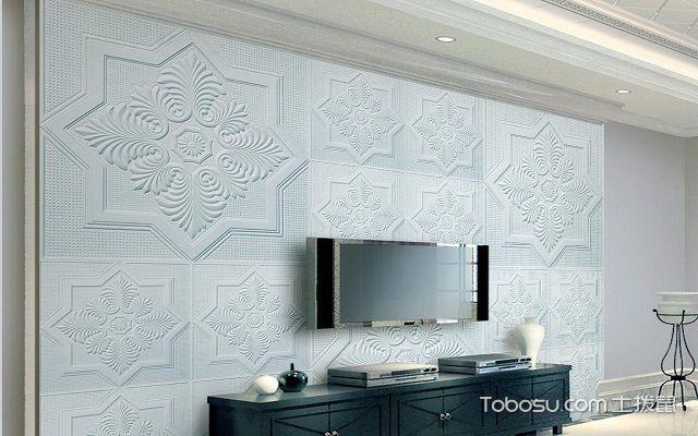 设计石膏电视墙造型效果图