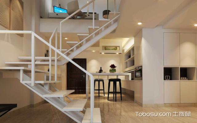 180平米复式楼梯设计效果图