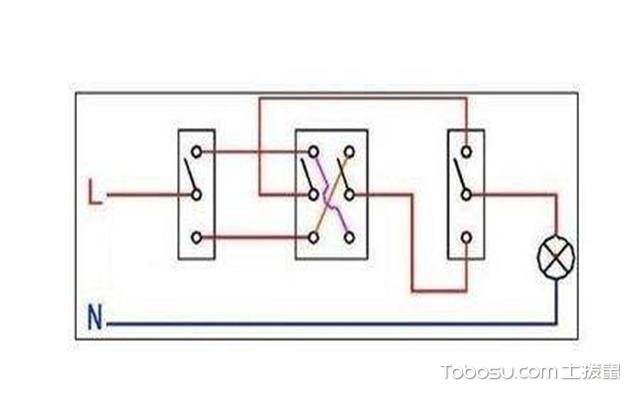 三联开关接线图