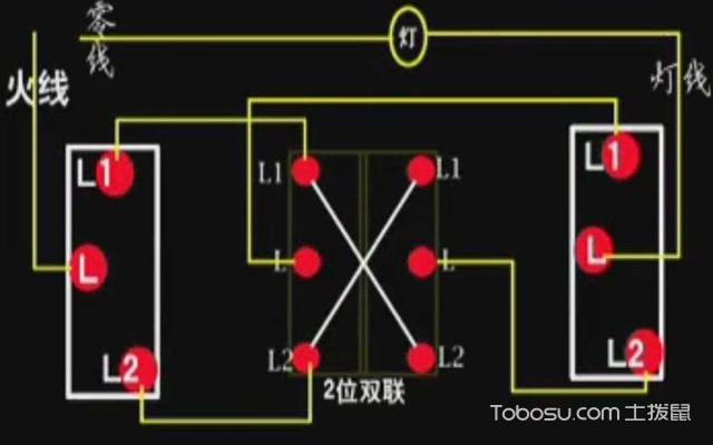 三联开关接线图的说明