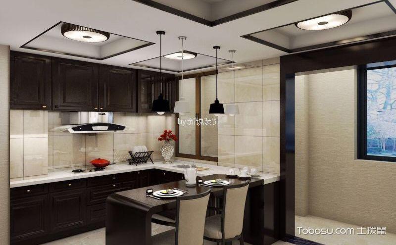中式厨房吊顶效果图,八款设计都养眼精致