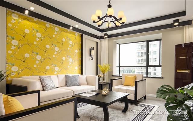 2018新中式客厅装修效果图