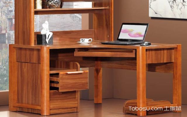 转角书桌书柜设计图