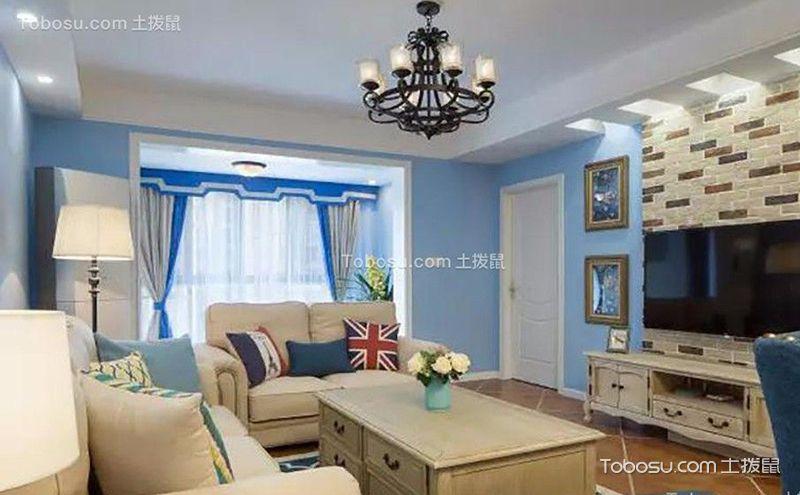 客厅地中海风格设计效果图,精彩不可错过