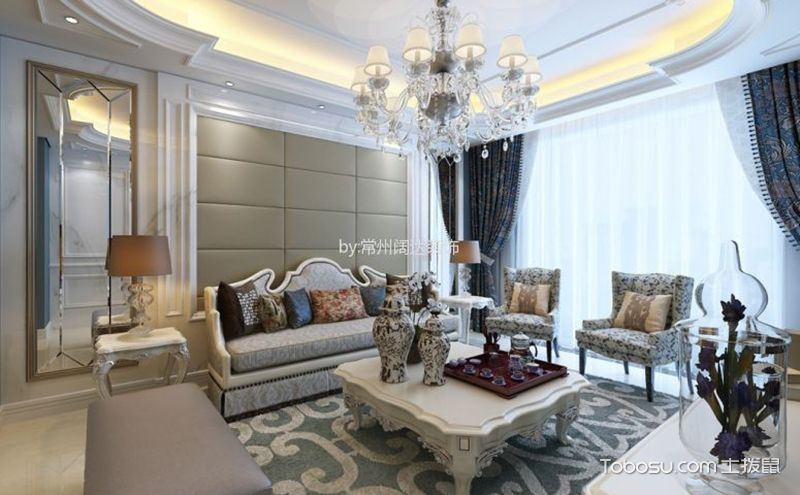 欧式小户型家具摆放效果图,高雅之中显大气