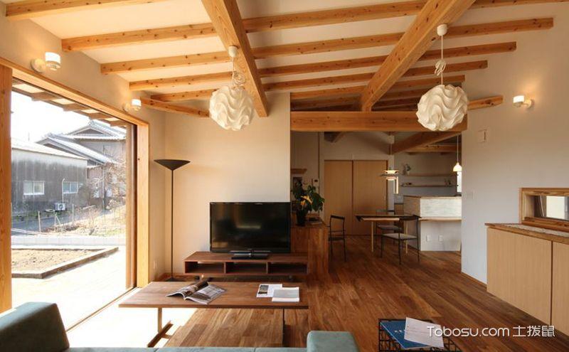 日式客厅家具设计装修图,独一无二的韵味