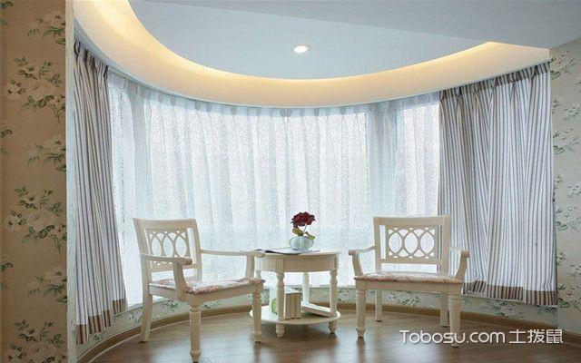 阳台窗帘效果图之圆形阳台