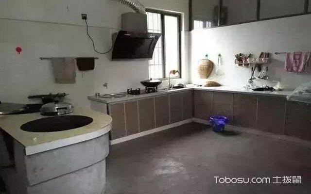 现代厨房和农村柴火灶的比较,也说柴火灶新与旧的结合图片
