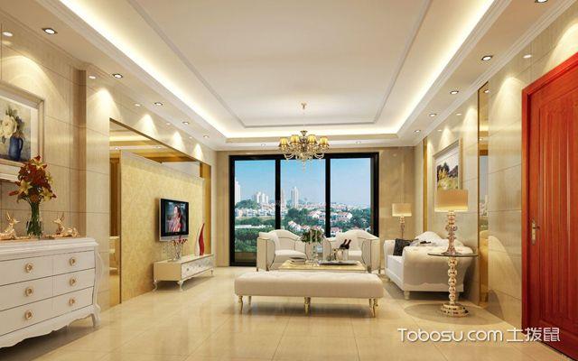 石膏板客厅吊顶造型图片