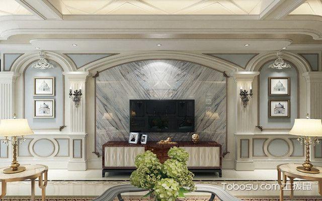罗马柱电视墙效果图 拱形