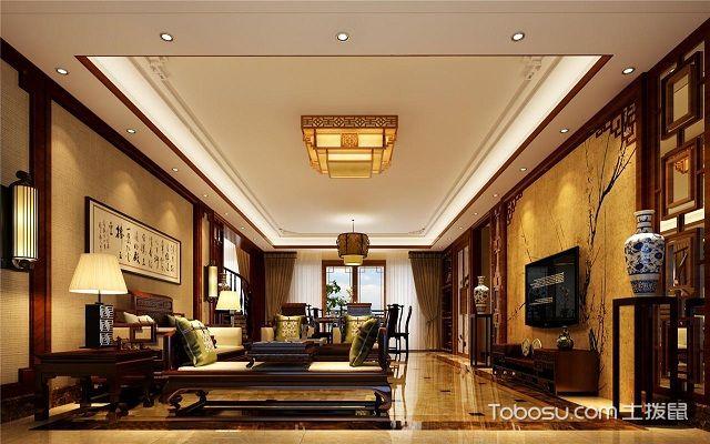 客厅灯光搭配案例中式