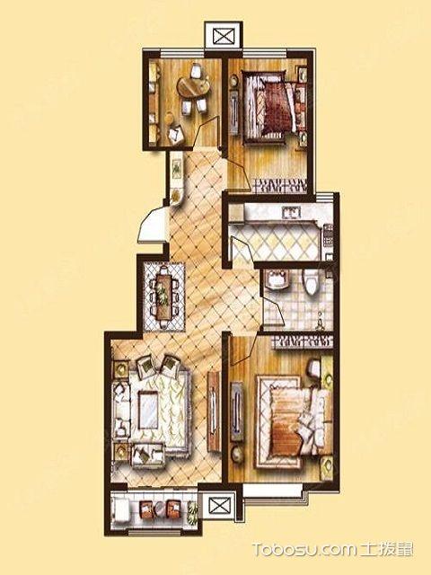 三室一厅户型图大全设计要点