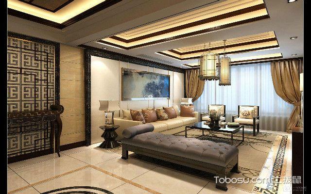 新中式客厅装修效果之效果图