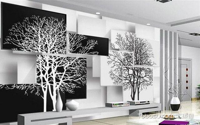 简约电视墙图片之3D电视墙面