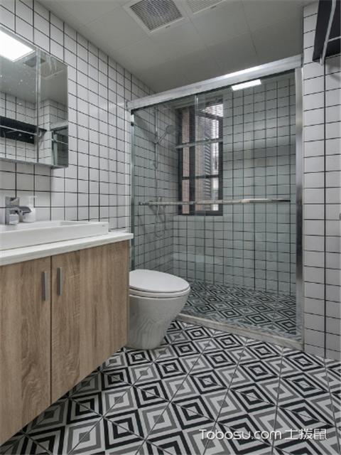 卫生间地砖效果图案例