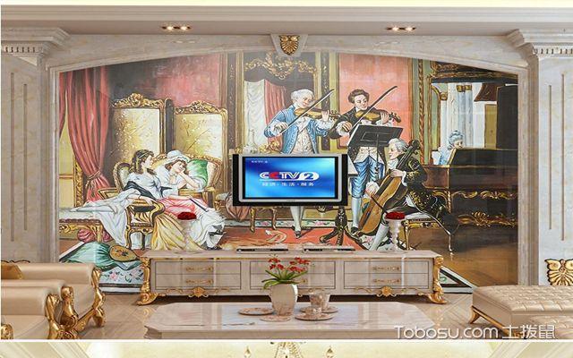 欧式背景墙电视背景墙案例二