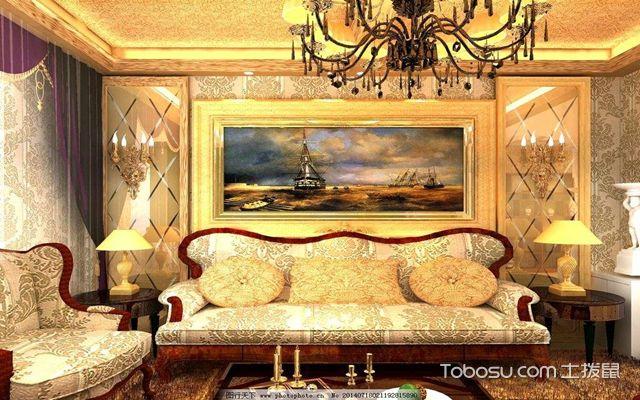欧式背景墙沙发背景案例一