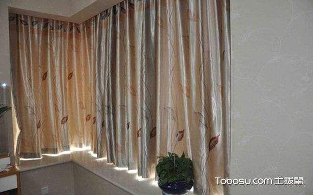 有拐角窗户怎么挂窗帘,步骤
