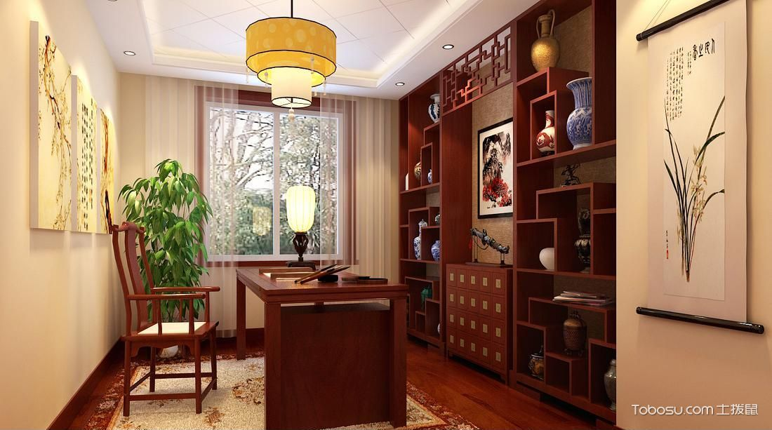 客厅中式风格博古架
