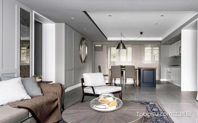 100㎡的美式古典装客厅