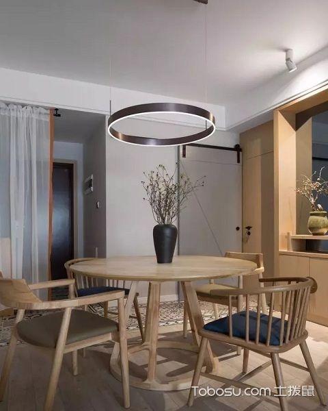 家装原木风格效果图餐厅