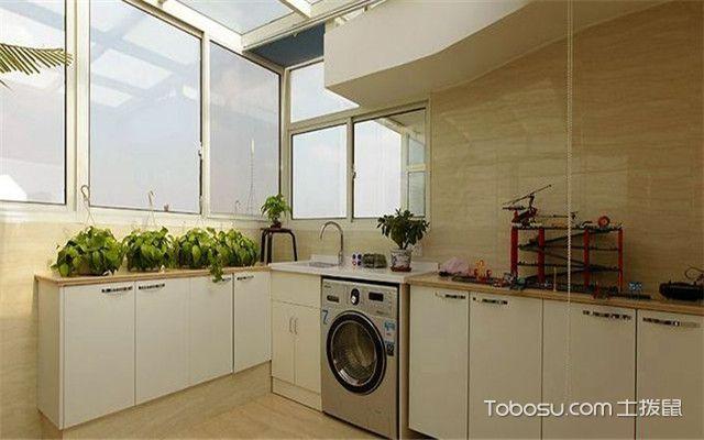 阳台改厨房效果图 白色