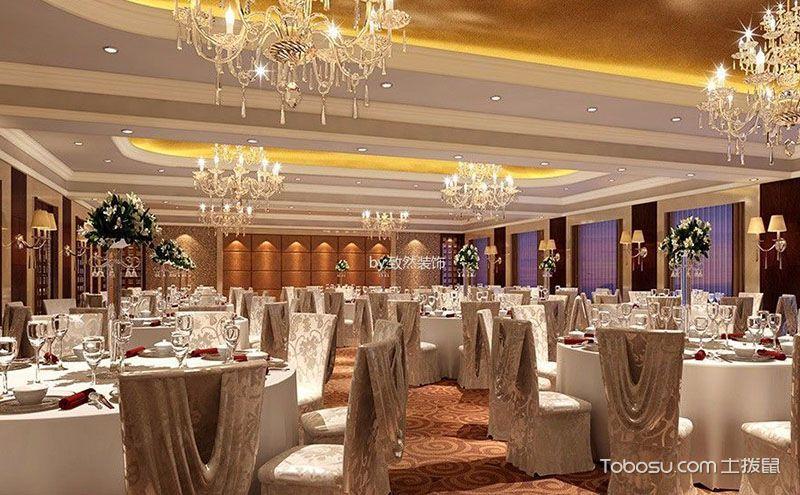 酒店餐厅装修效果图,不一样的华贵优雅